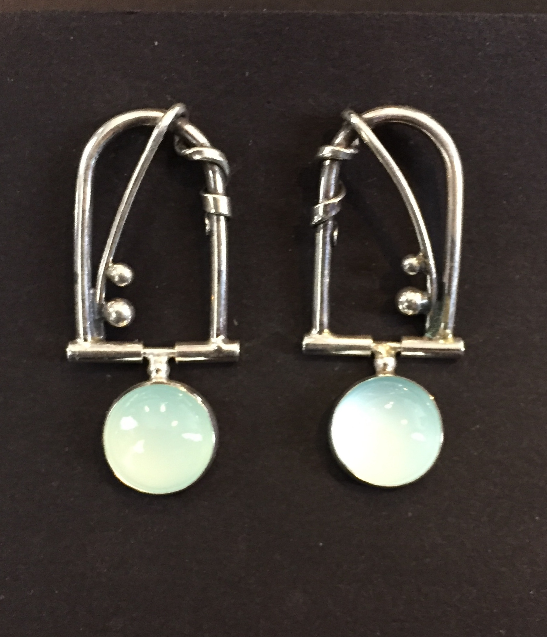 Chalceldony Earrings sterling and chalceldony $150.