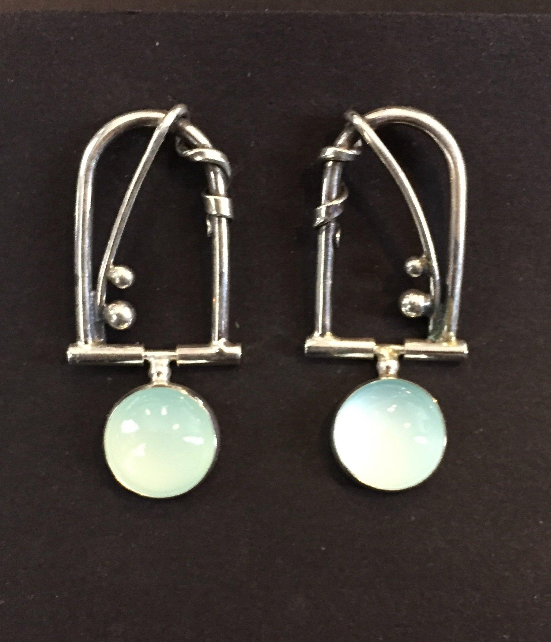 Chalceldony Earrings sterling and chalceldony $150.
