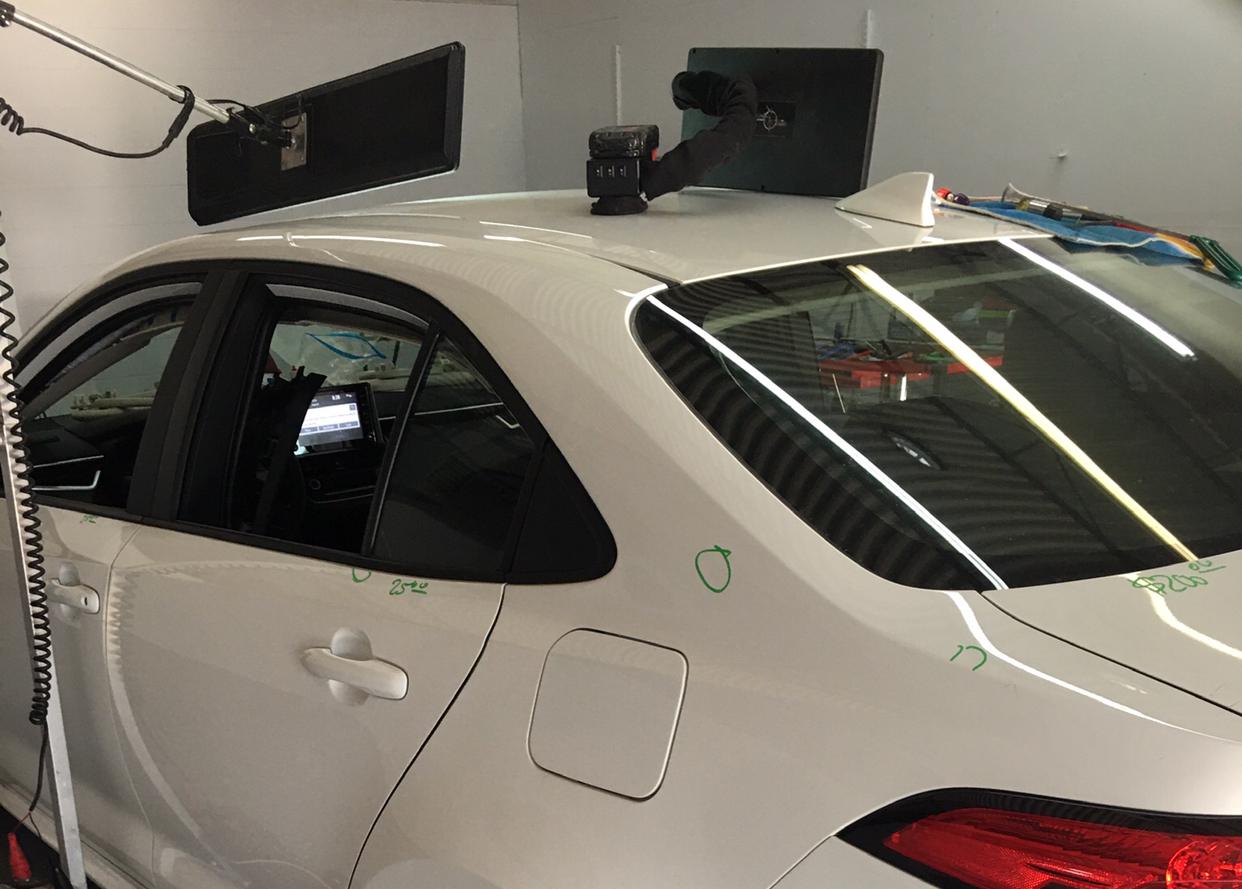 White Sedan Front