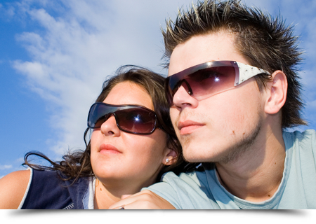 Couple wearing glasses||||