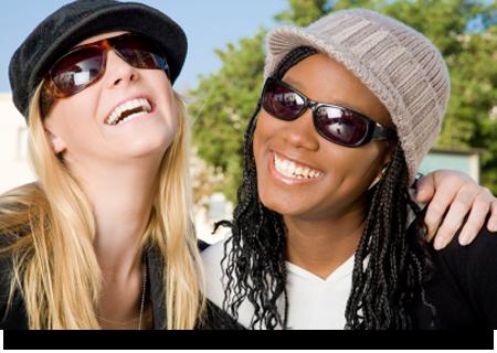 Beautiful women wearing sunglasses||||