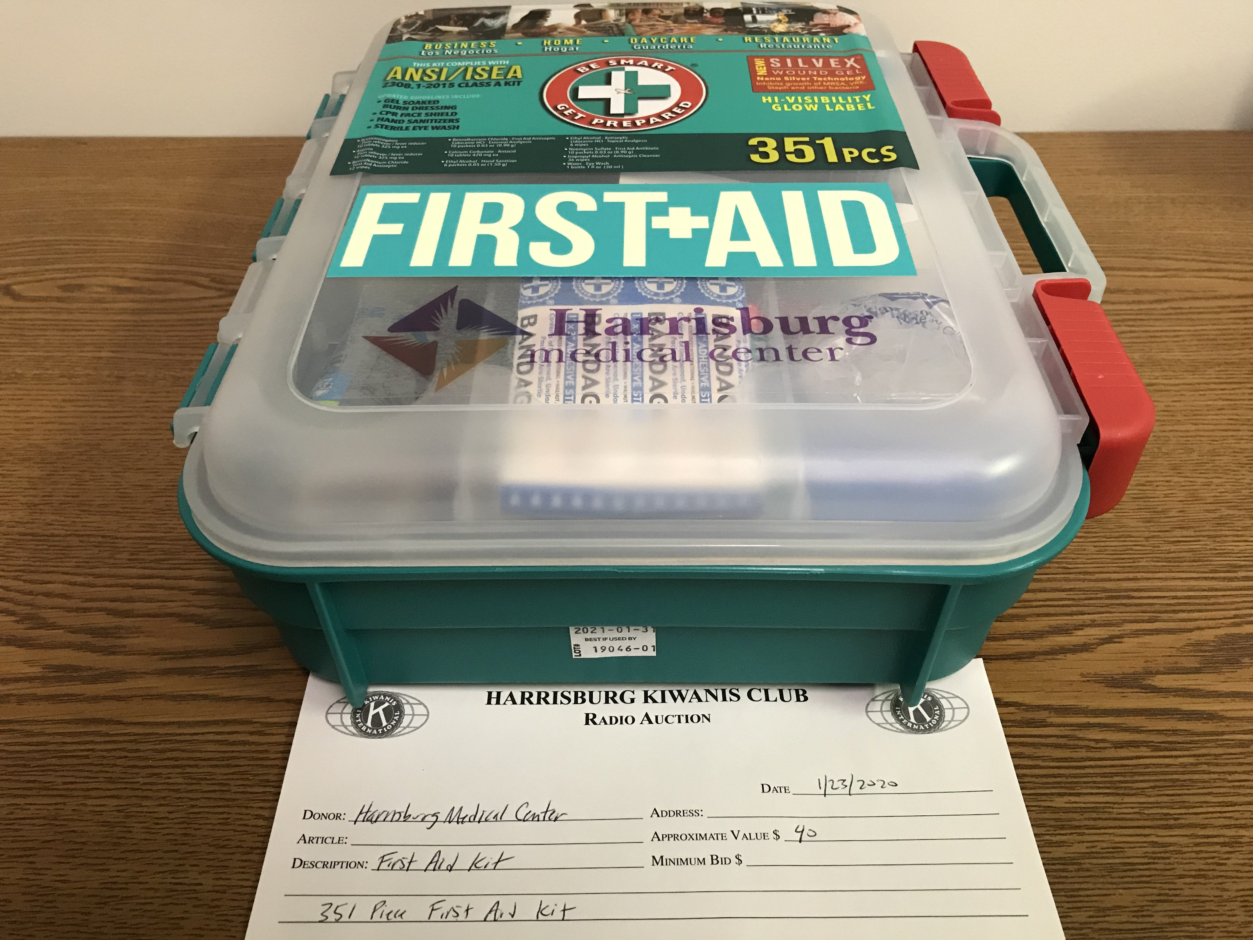 Item 305 - Harrisburg Medical Center First Aid Kit - 351 Pieces
