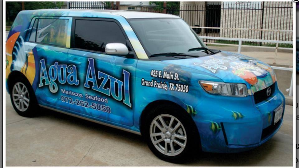 Agua Azul Car Wrap
