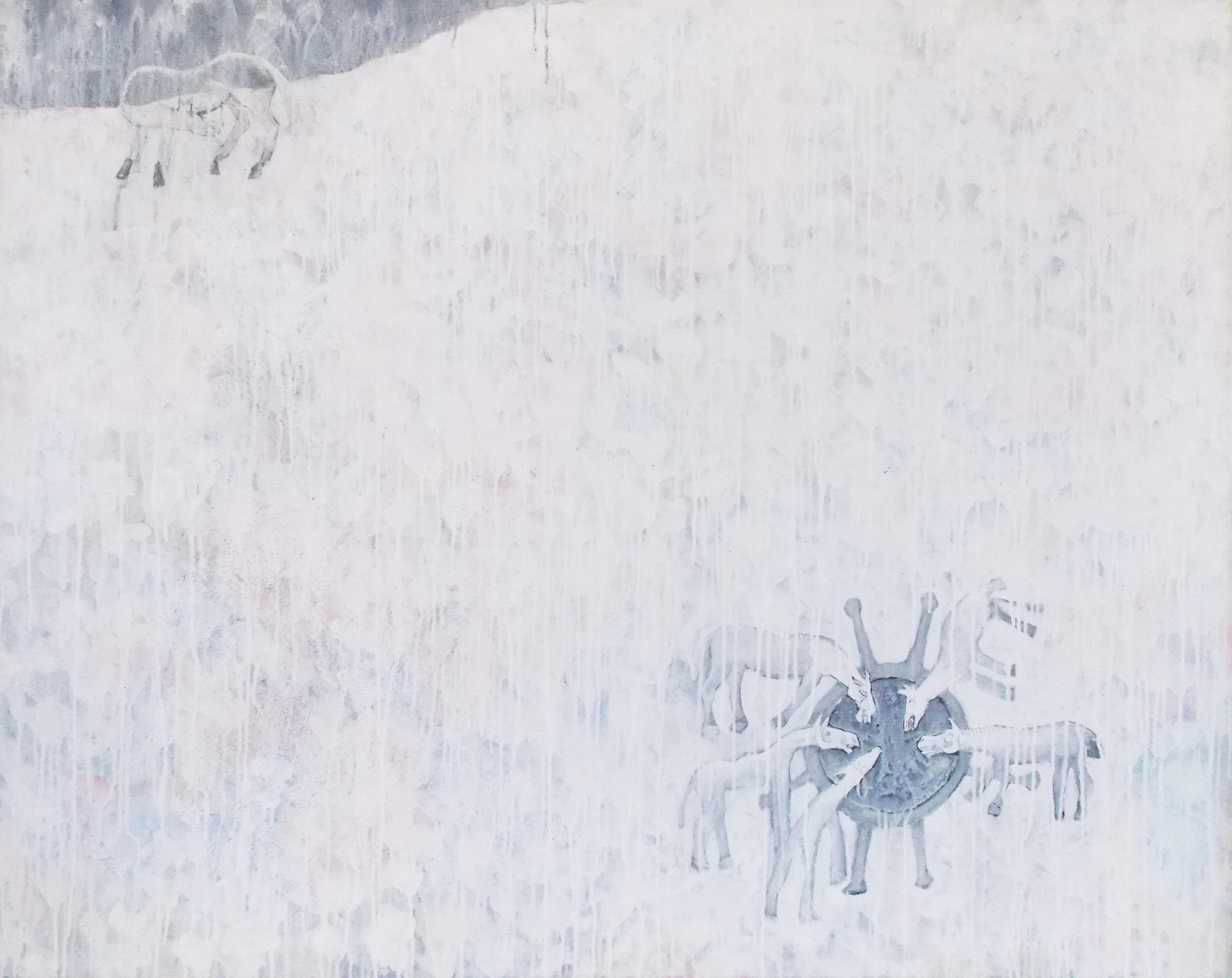 Lluvia Mixta s/tela 120 x 150 cms