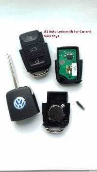 VW 3 buttons remote key