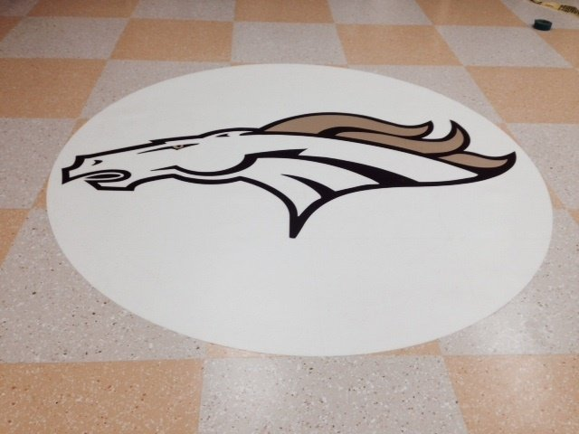 Floor With Horse Print