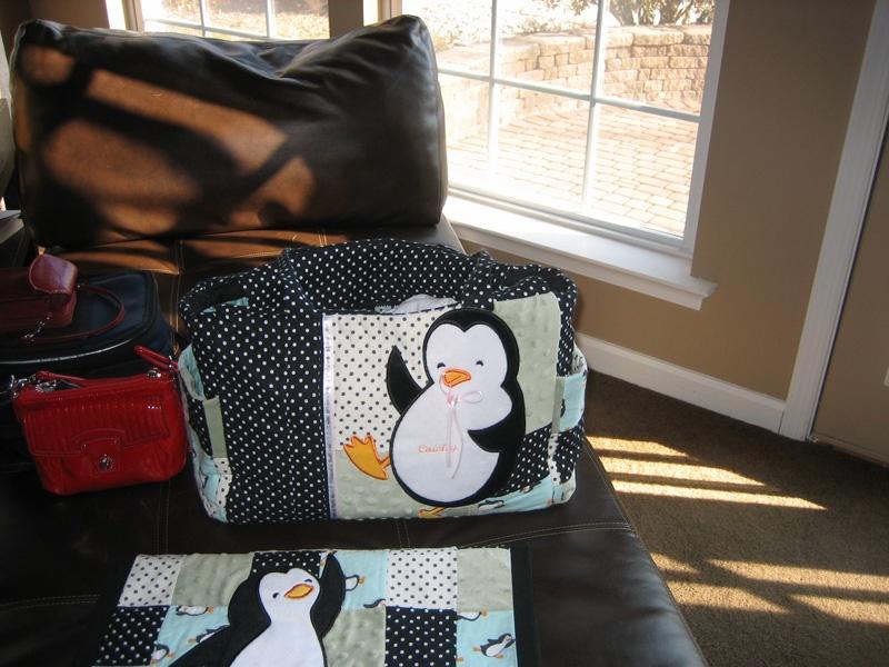Penguin diaper bag||||