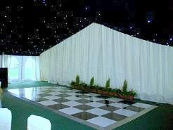 dance floor and reveal curtain