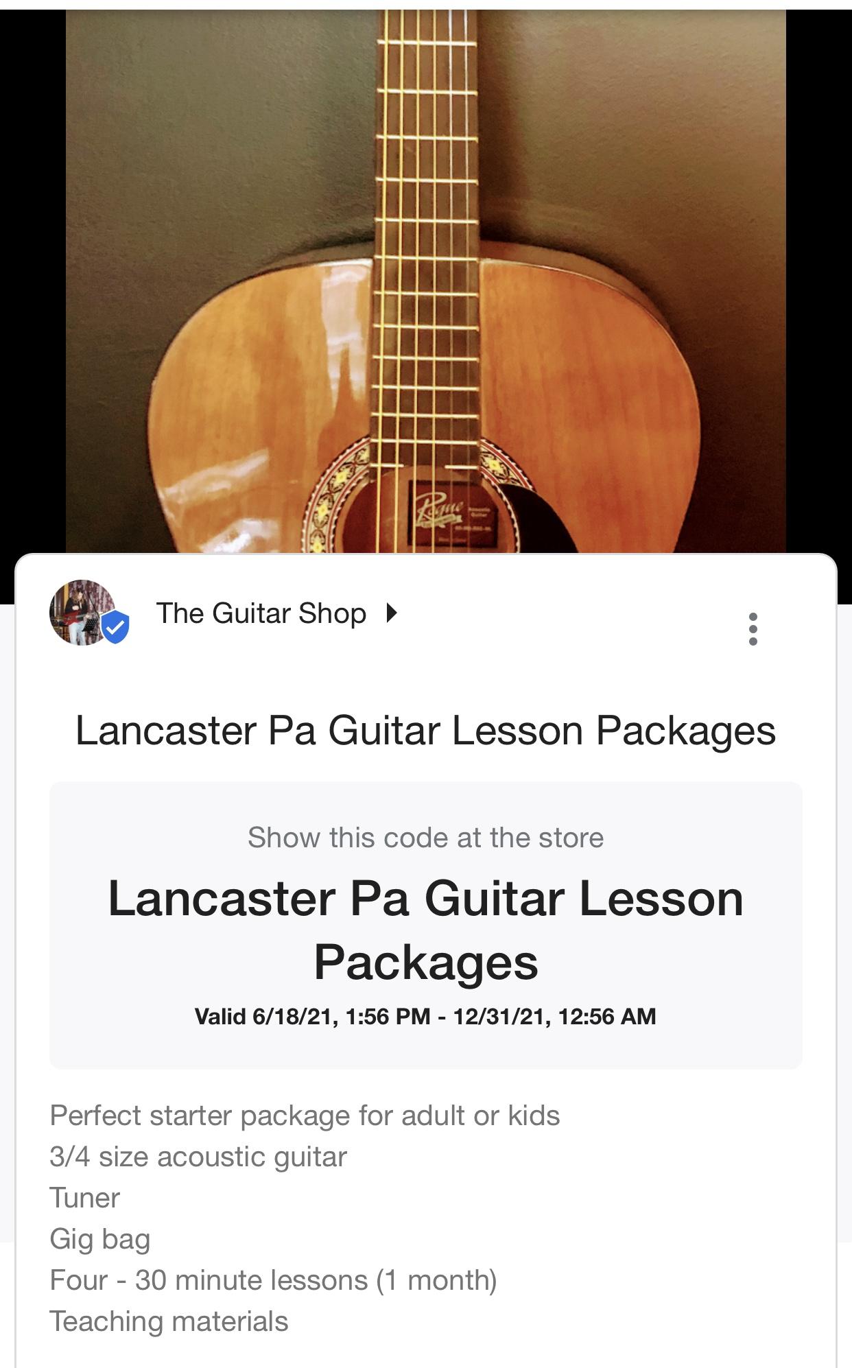 Lancaster Pa's Top Guitar Instruction Studio