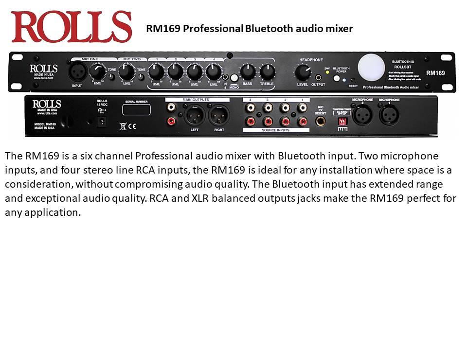 ROLLS RM169 Rackmounted Mixer