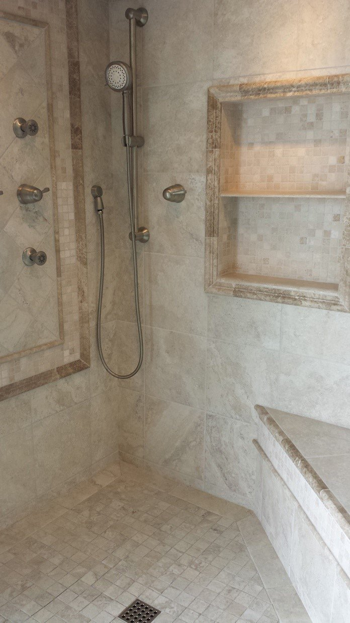 Renovated Shower Tile