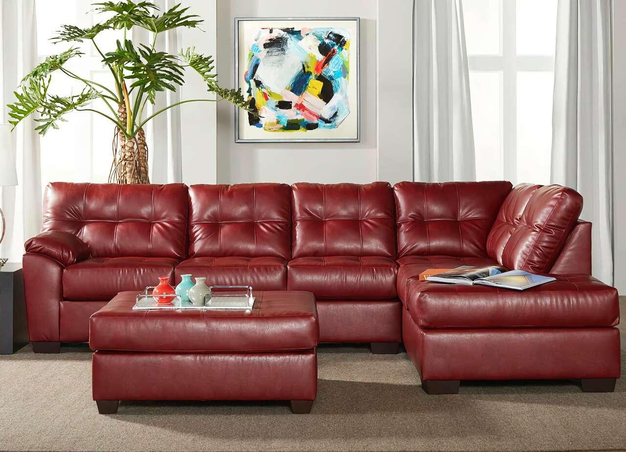 16900 Sectional  Sofa San Marino Crimson