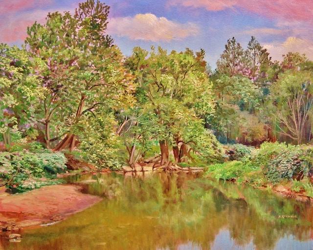 45. At Seneca Creek, 16x20 oil on canvas