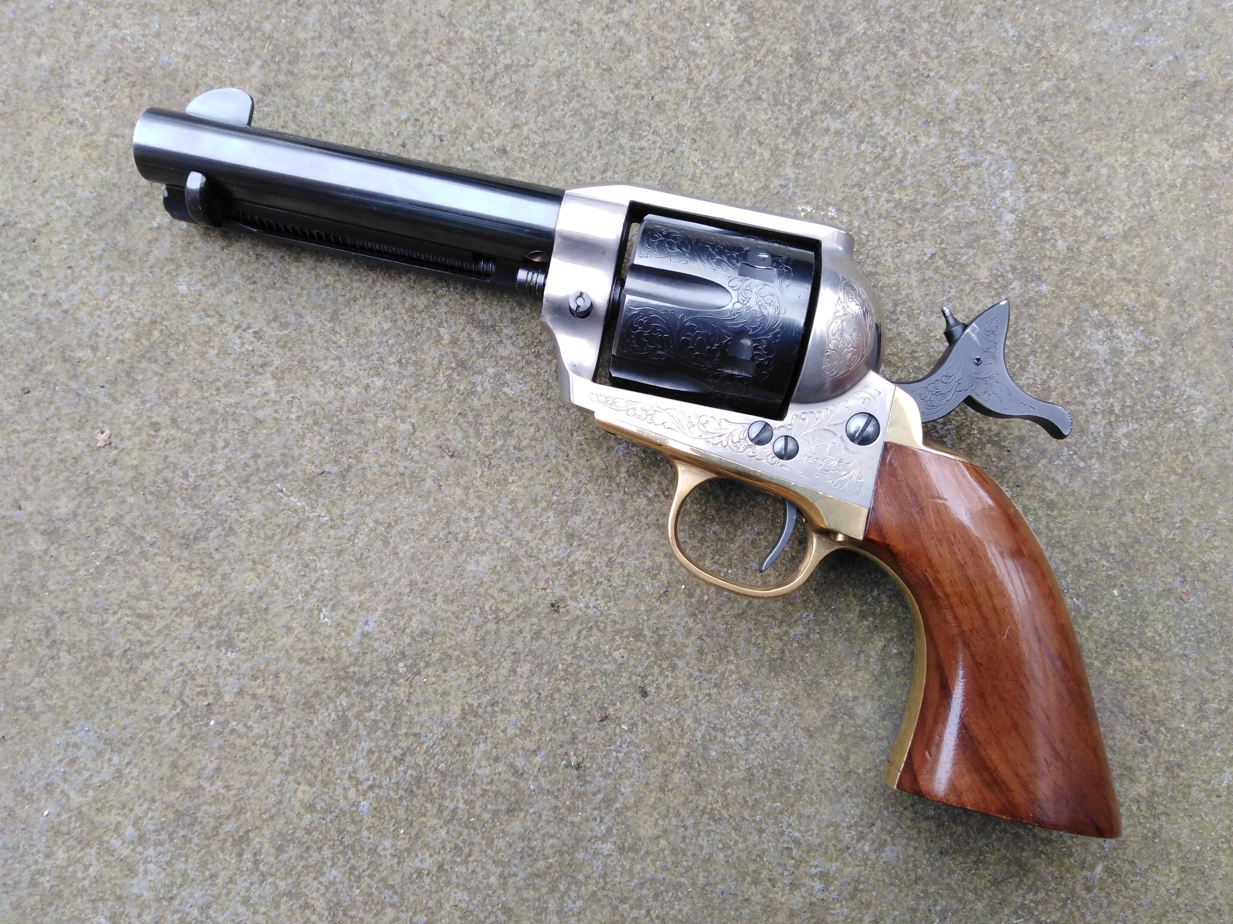 Adler Engraved 9mm Colt SAA