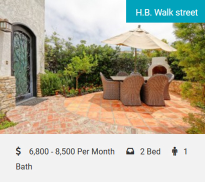 H.B. Walk Street Old-World Charm… The Perfect Escape Old-World Charm… The Perfect Escape, Steps to the Beach! Cozy 2-bedroom, 1-bath apartment on a walk street, sleeps 6 (4 in beds and 2 on sofa bed)…