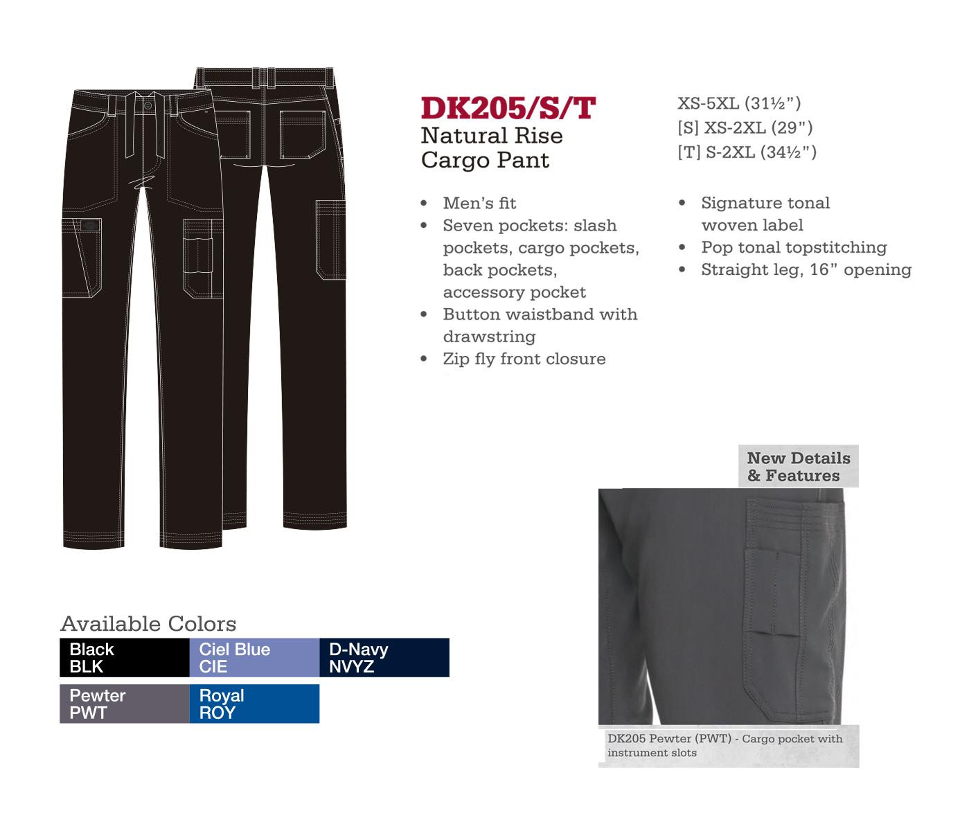 Pantalón Cargo de Levantado Natural. DK205/S/T.