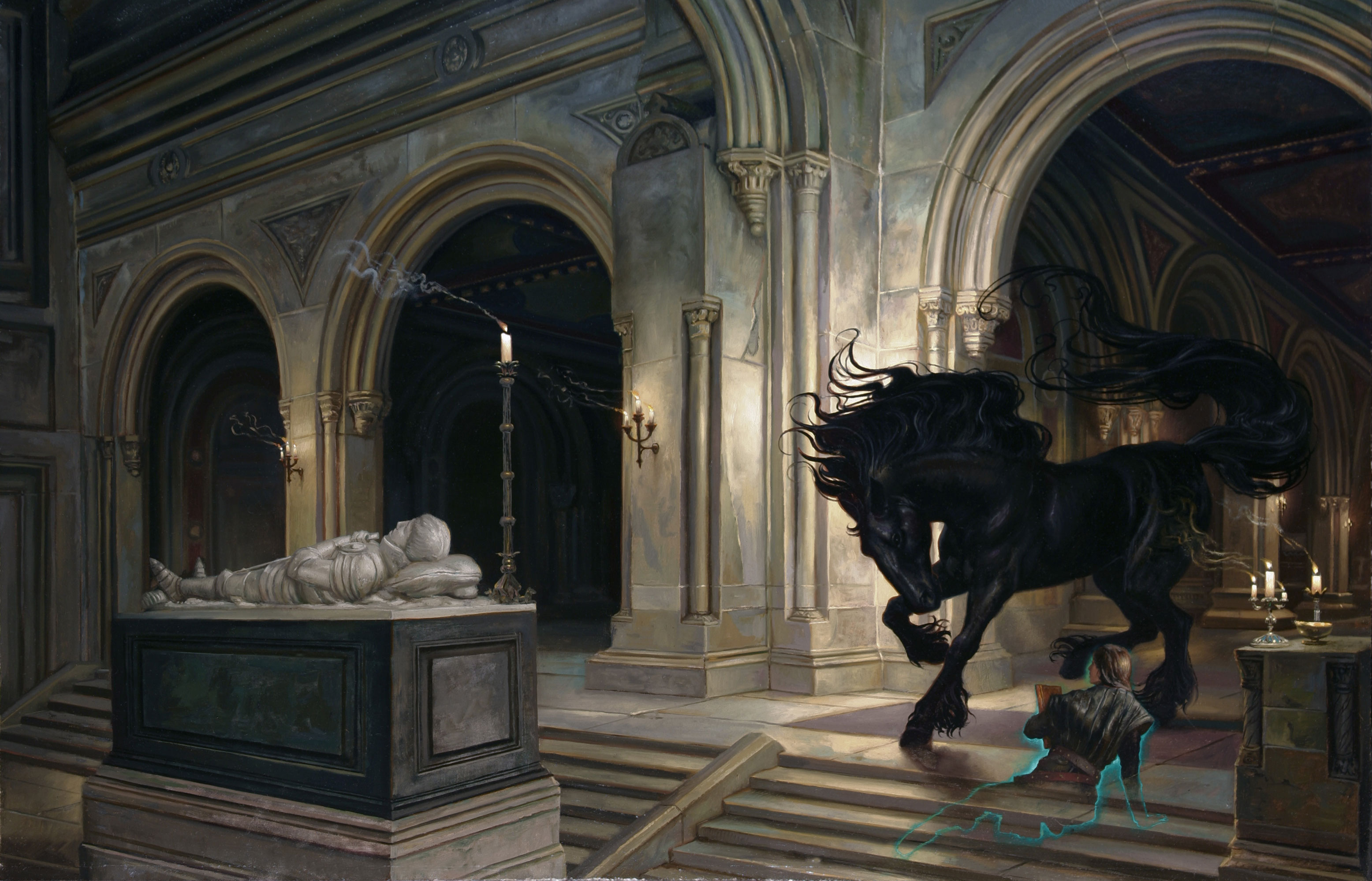 "High King's Tomb Cover for the novel by Kristen Britain 27"" x 41""  Oil on Panel 2007 Collection of the Author prints available in the store"