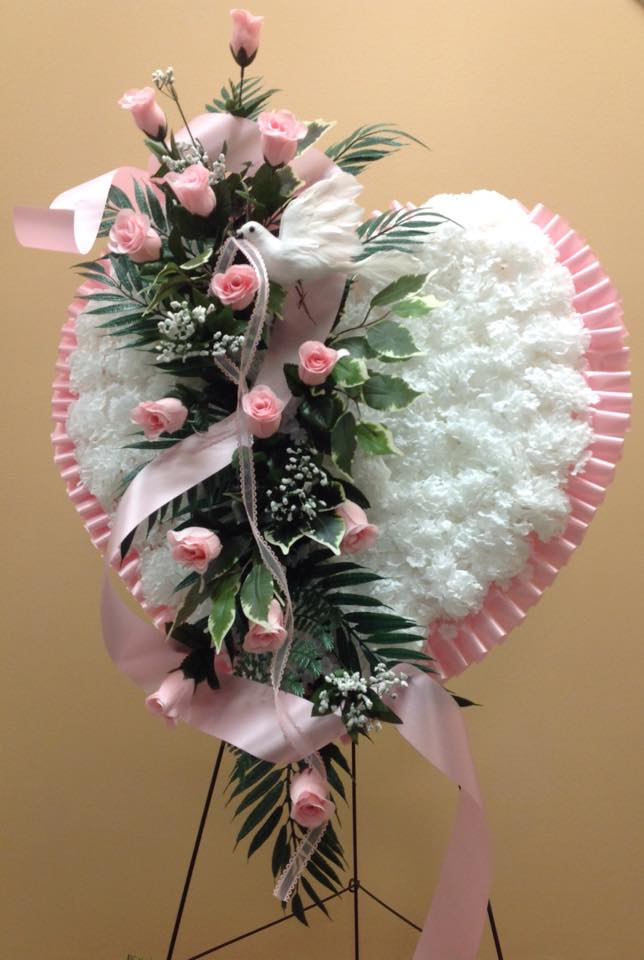 Silk Heart Arrangement