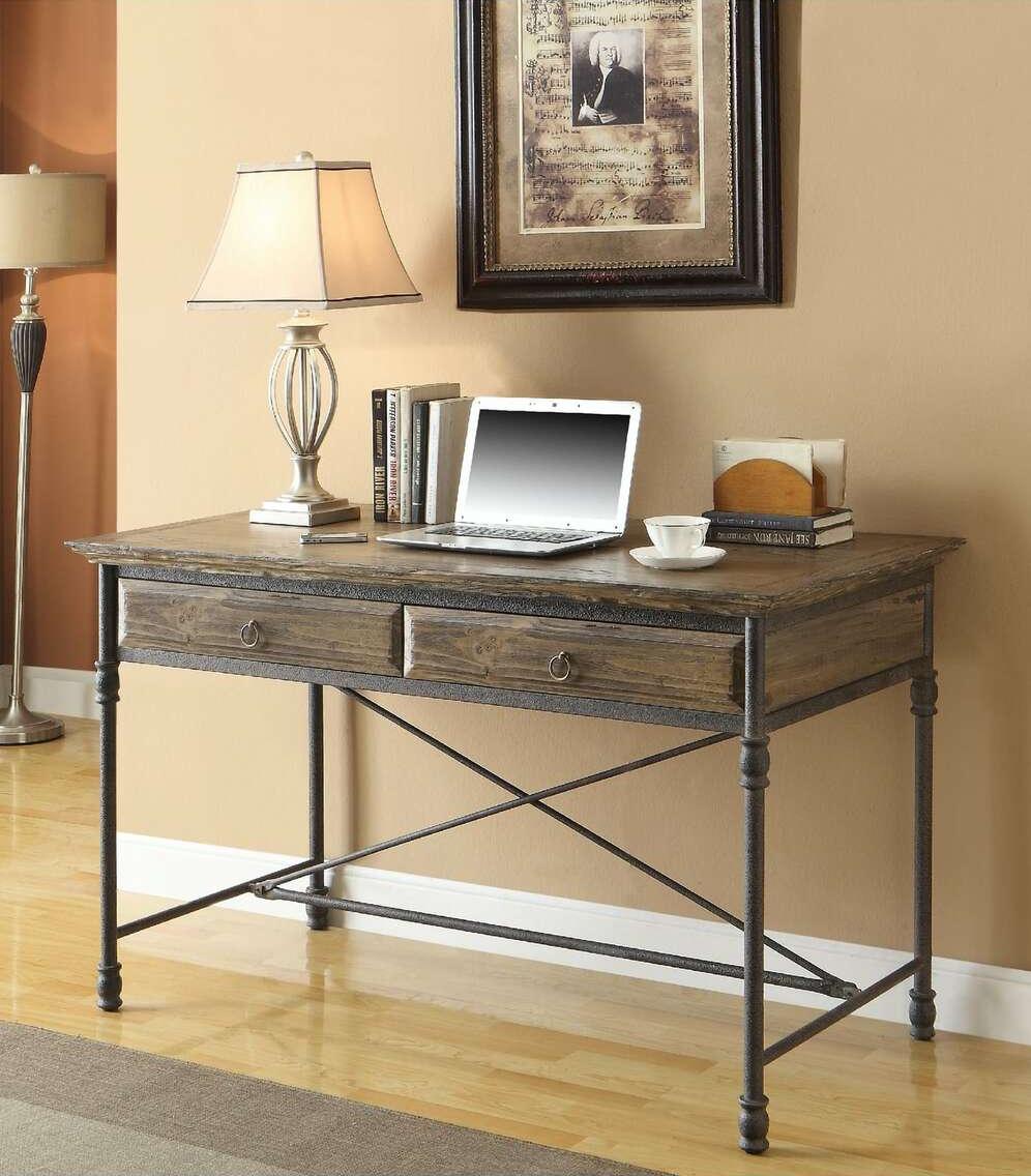 61627 Corbin Medium Brown 2 Dr Desk by Coast to Coast