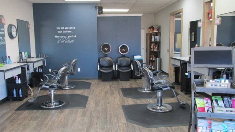 salon and chairs