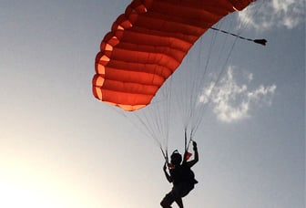 Parachuting Into the Sunset