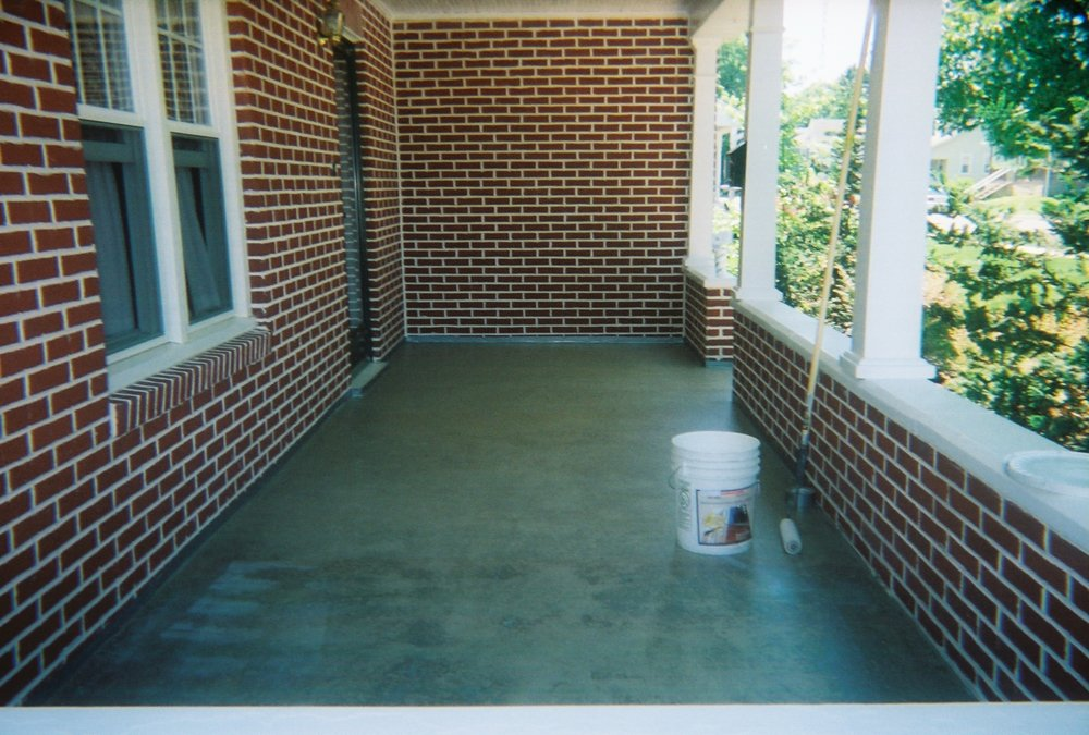 Concrete floor before overlay