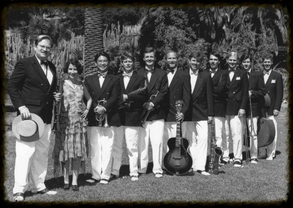 Royal Society Jazz Orchestra at a garden party in Santa Barbara, CA.