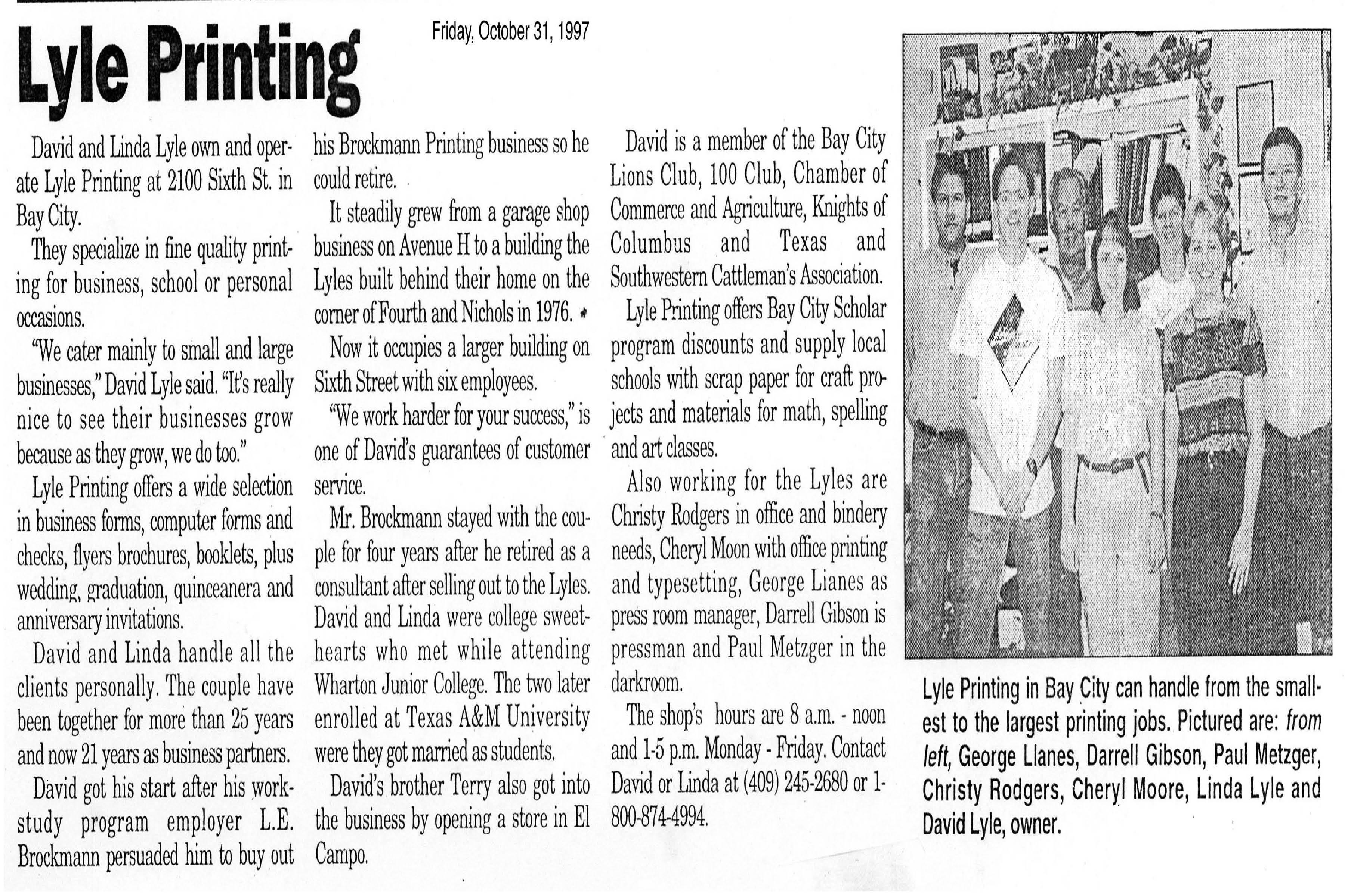 October 31,1997