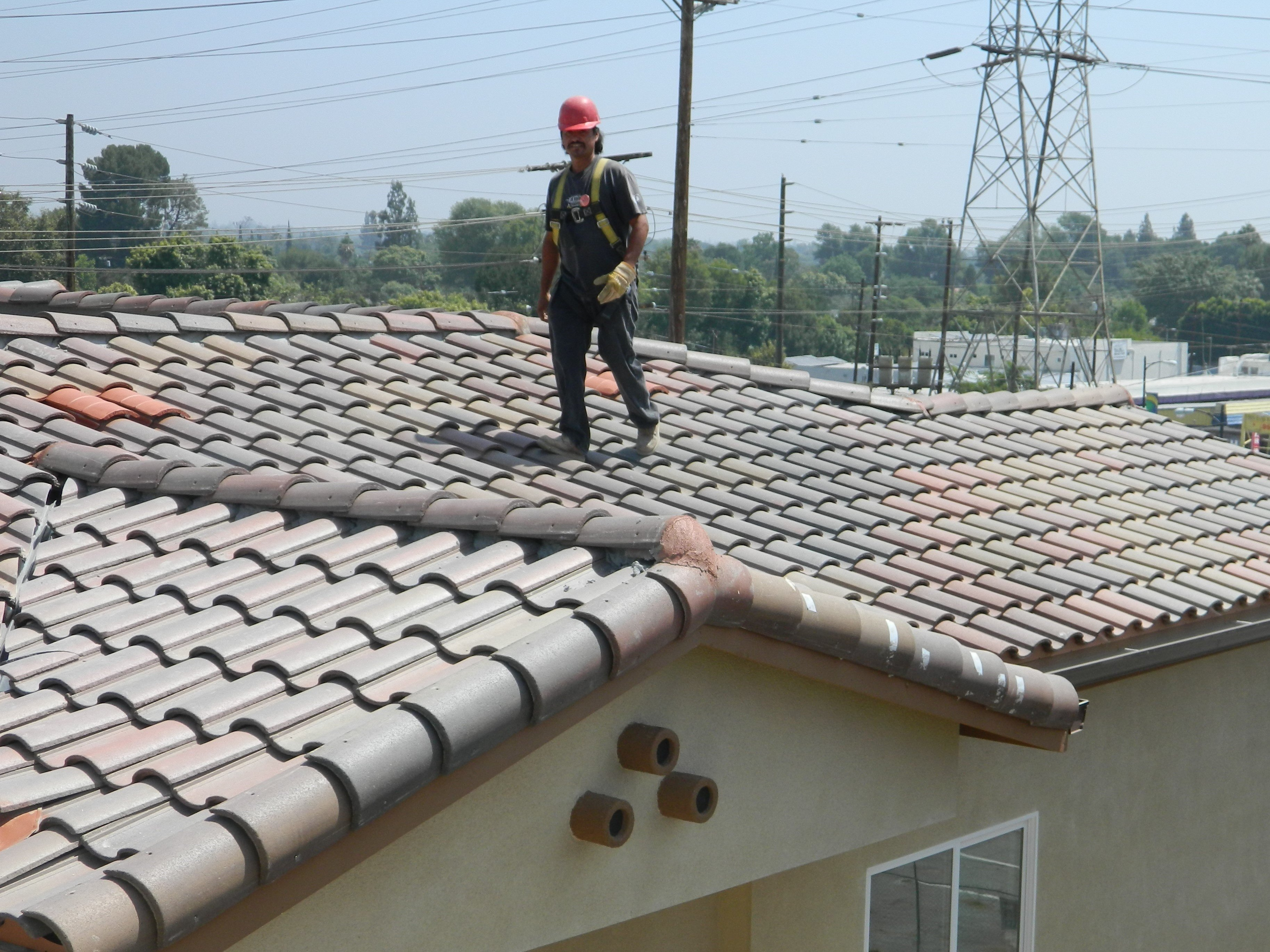 Roofer Walking