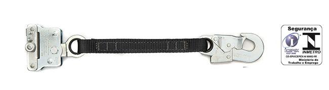 Trava-queda aço carbono para corda  de 12mm extensor fita