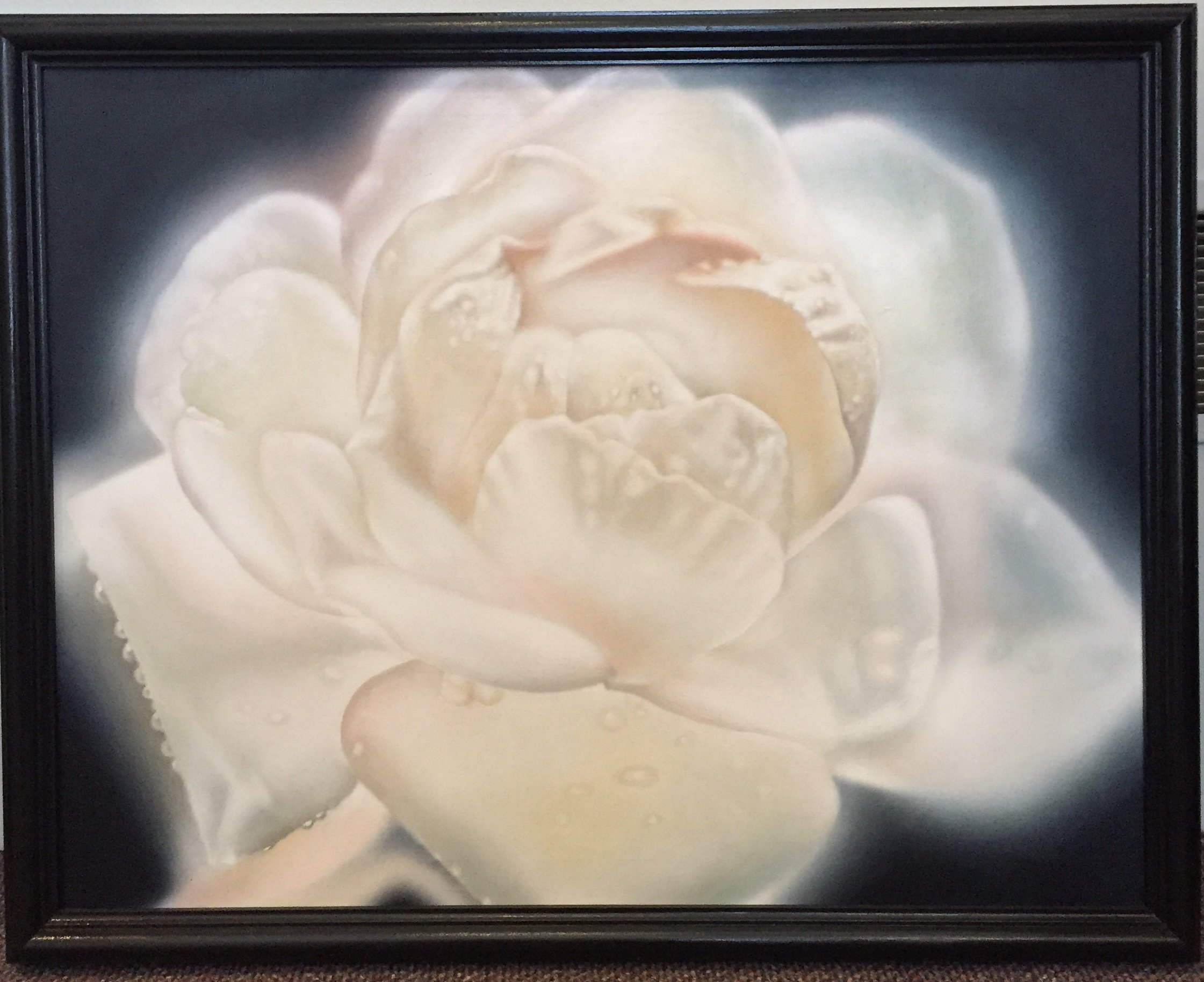 "White Rose Oil 24"" x 30"" $375."