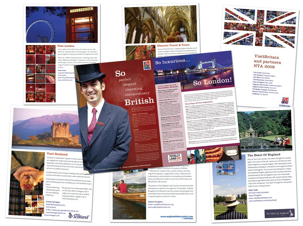 Promotional brochure for Visit Britain