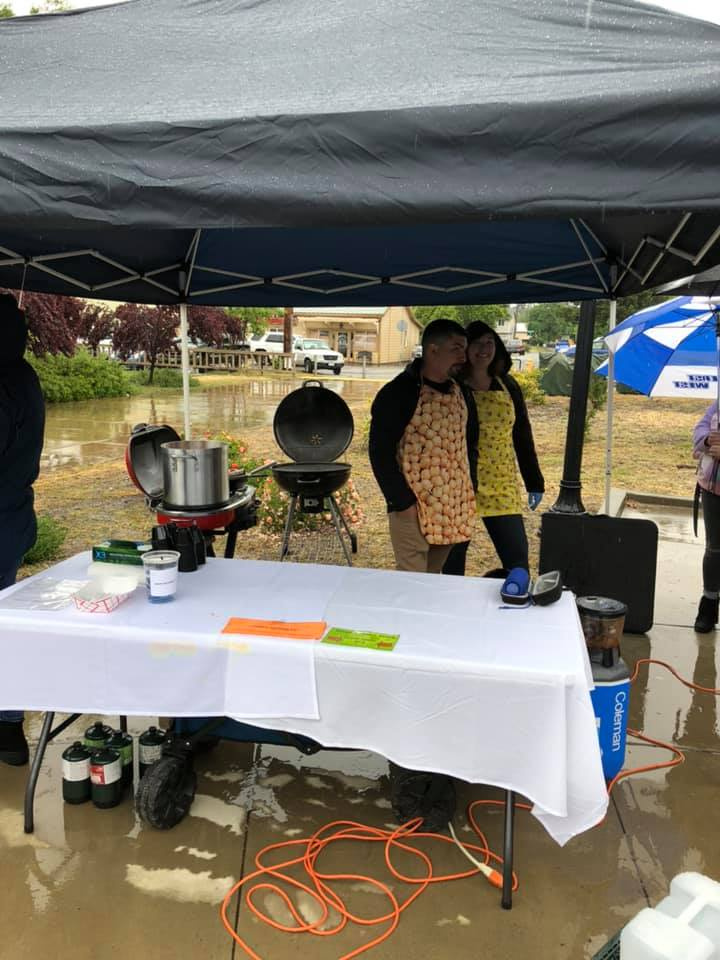 Rain or Shine Our cookers were there!