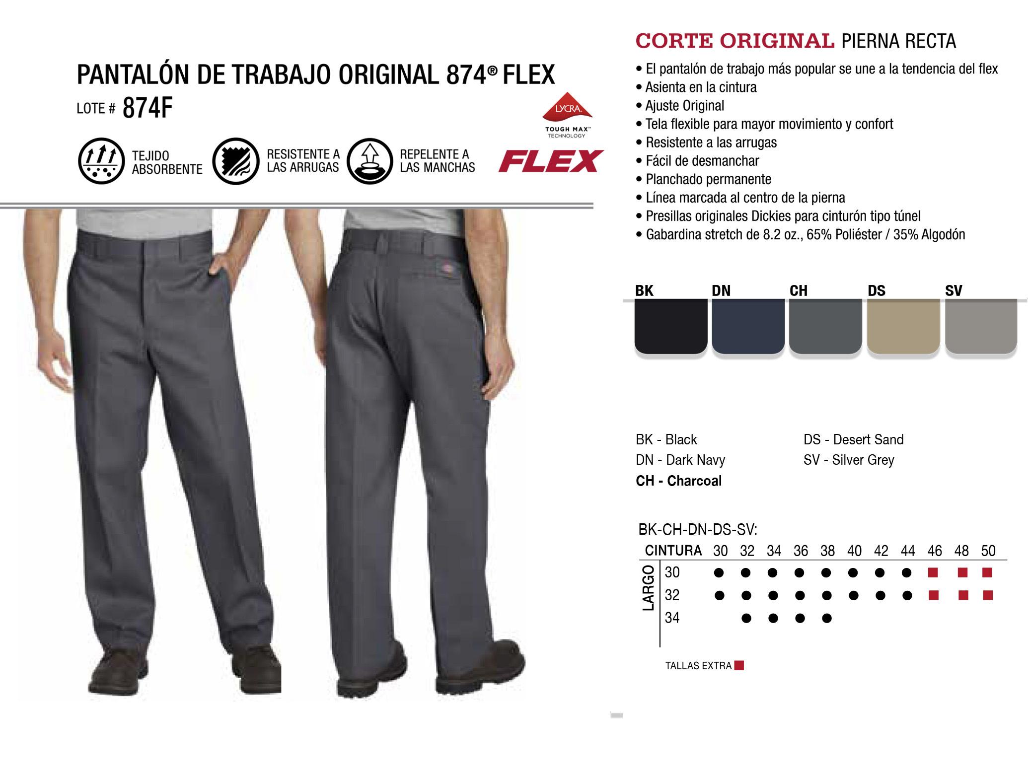 Pantalín de Trabajo Original 874 Flex. Corte Original. 874F.