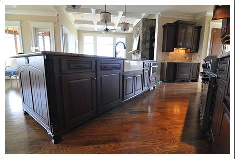 View through the kitchen area    