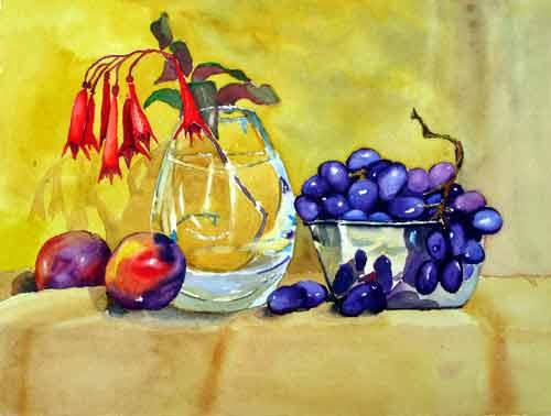 Grapes ..... Watercolour