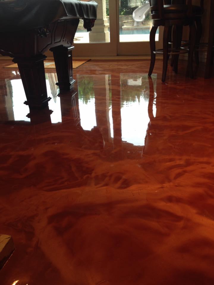 Shiny Concrete Flooring