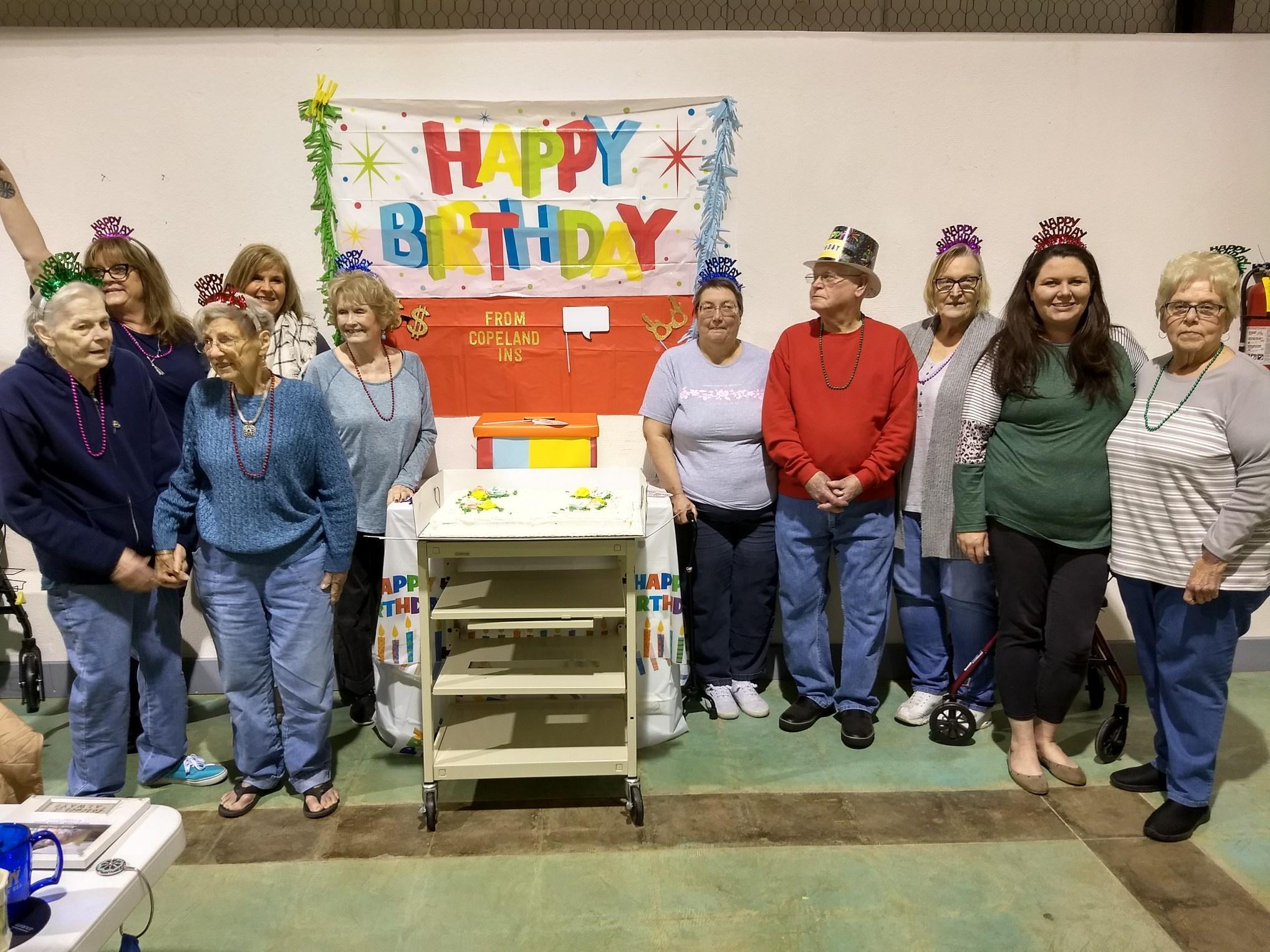 Celebrating January Birthdays at PrimeTime provided by Copeland Insurance.
