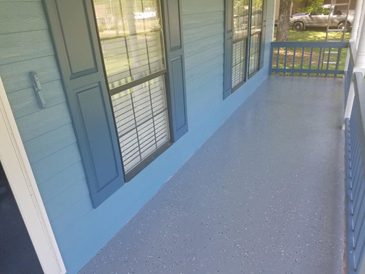 Newly Painted Deck