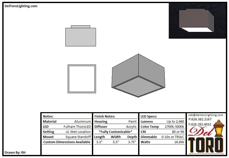 100C-Square Column w/Standoff