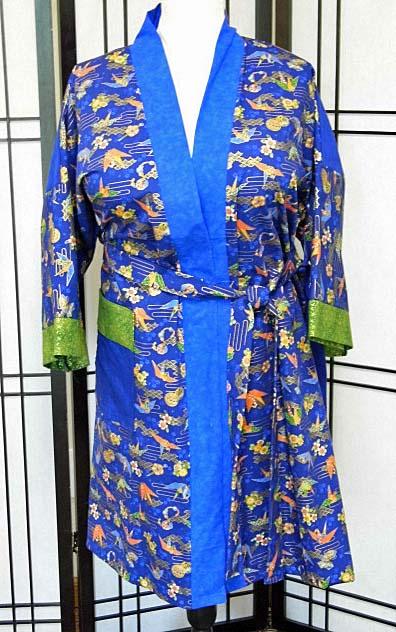 Blue Temple Kimono (Front)