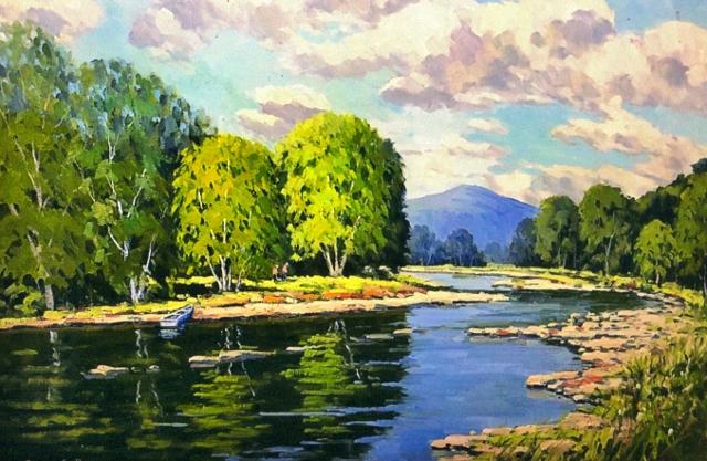 White River Vista, 24 x 36 Oil
