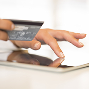 Credit Card and Tablet PC
