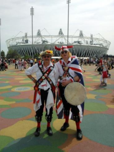 Brian and John outside the Olympic Stadium
