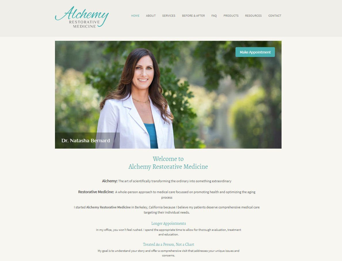 Alchemy Restorative Medicine Website