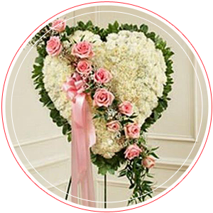 Pink Rose Sympathy Flowers