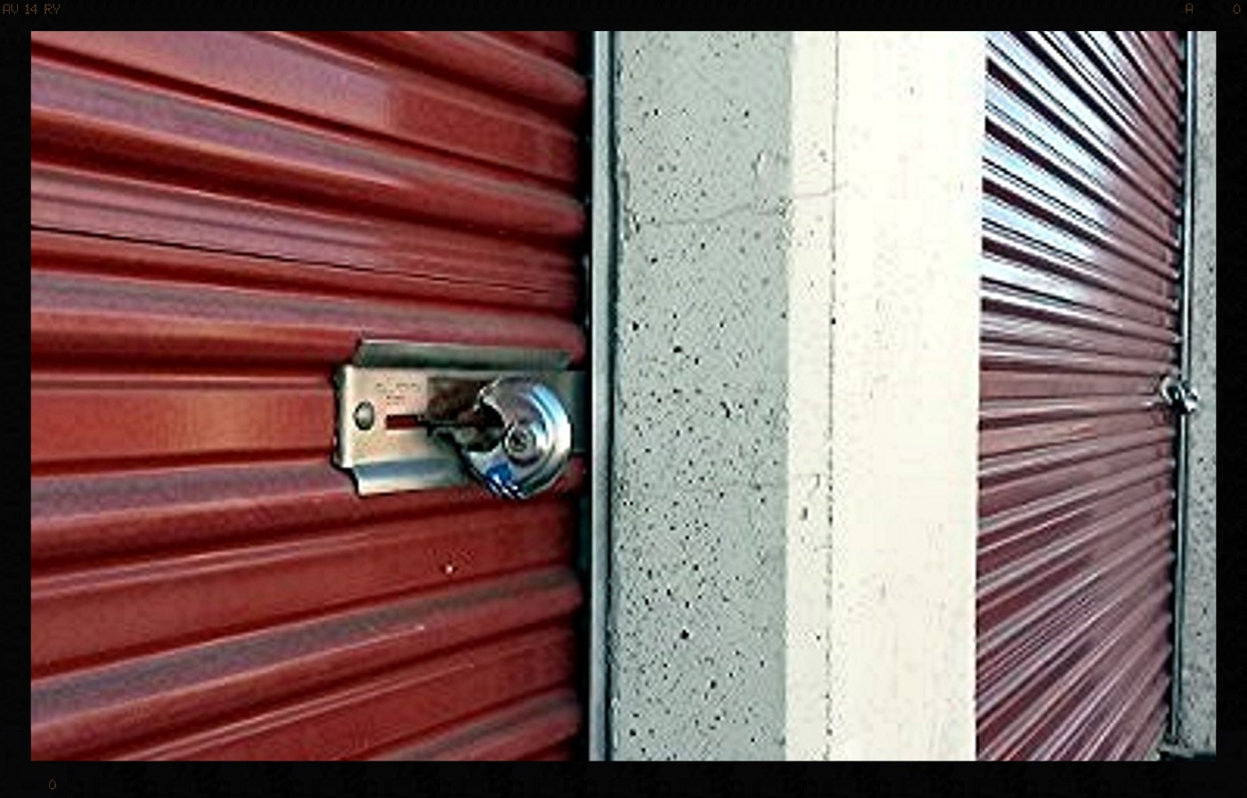roll-up storage unit door with disc lock