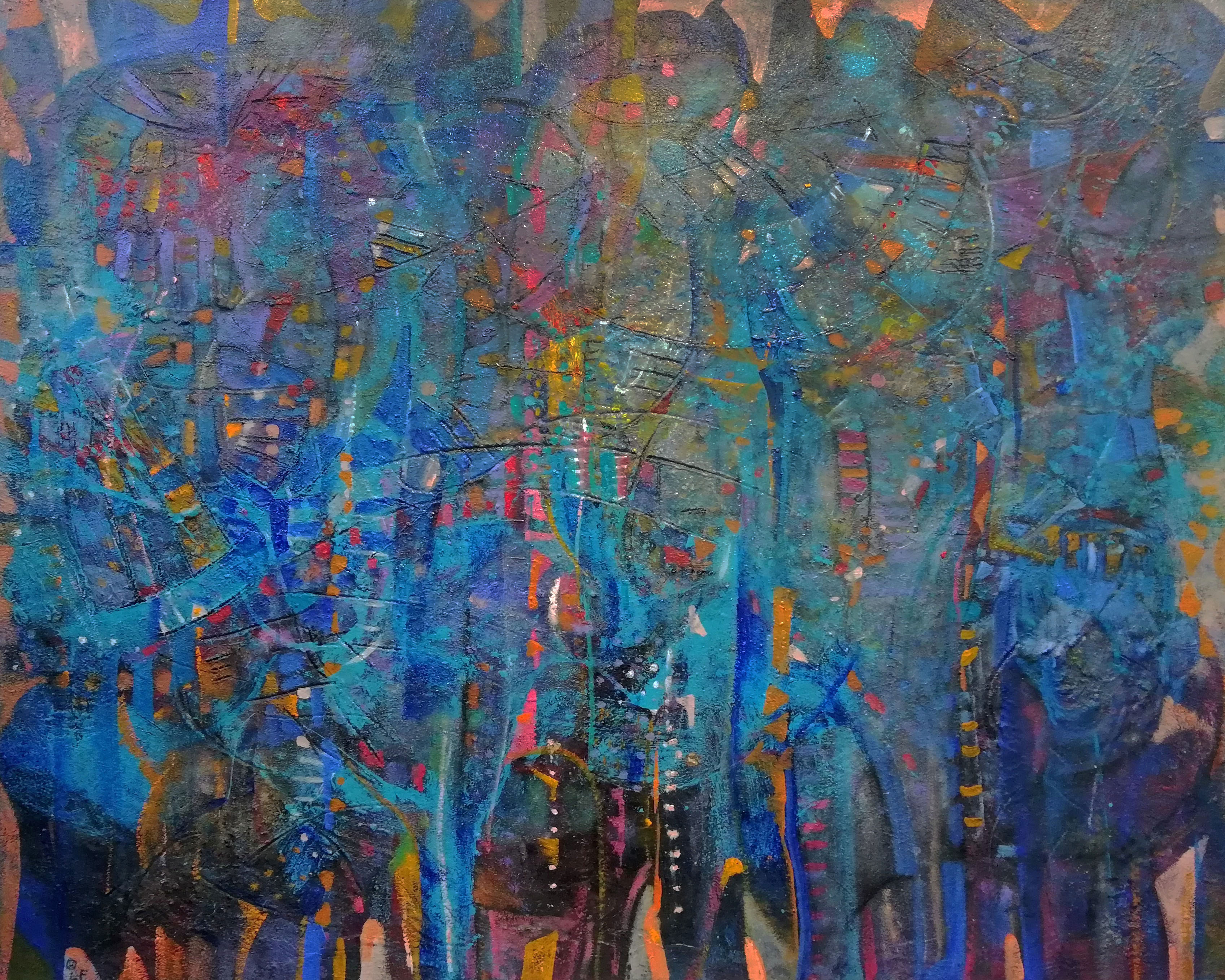 El bosque será azul óleo s/tela 120 x 150 cms / 47 x 59 inches