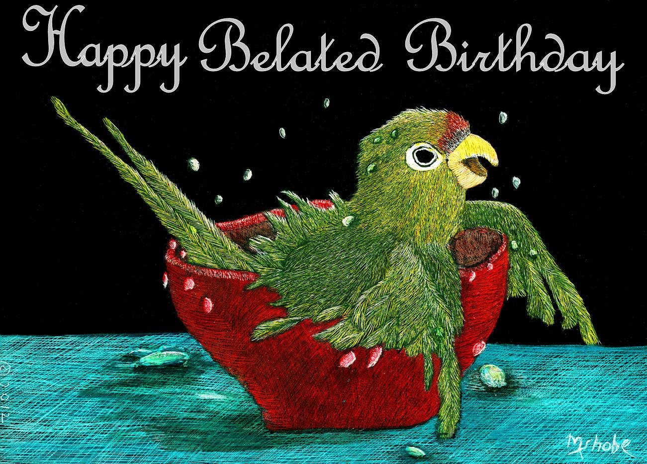 Bathtime Belated Birthday