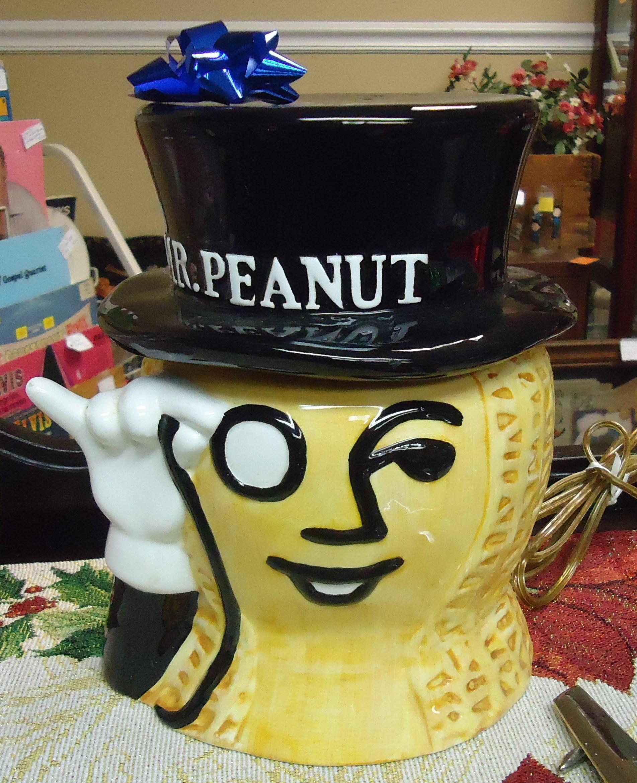 """(2)  """"Mr. Peanut"""" Collector Cookie Jar $68.00"""